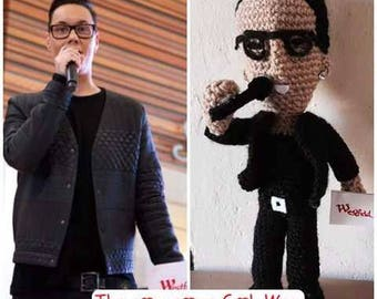 Celebrity Crochet Gok Wan Custom Amigurumi Doll