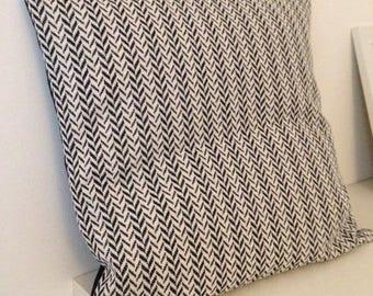 Black and white Chevron pillow cover
