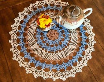 Handmade Rustic Doily - Farmhouse Decor - Crochet Lace Doily - Wedding Gift - Vintage Home Decor - Housewarming Gift - Pineapple Doily