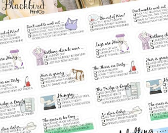 Choose Your Own Adulting   Hand Drawn original Planner Stickers [BG0012]