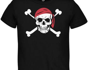 Halloween Jolly Roger Pirate Costume Toddler T-Shirt