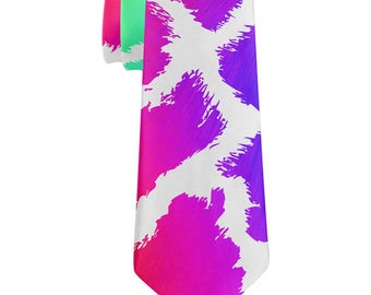 Show Your Colors Spots Gay Pride Rainbow All Over Neck Tie