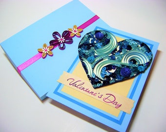 Quilling Love card,Quilling Card For Your Love,quilled valentine and heart cards,Cute Love,gift for your girl,Beautiful quilled cards,gift