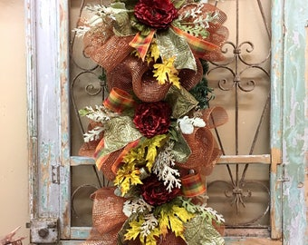 Fall Swag, Thanksgiving Swag, Door Swag, Fall Wreath, Fall Decor