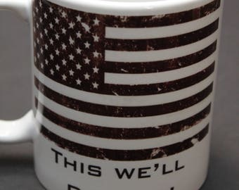 American Flag, Flag, This we'll defend, Gift for him, Gift for her, Military, USA, America, US Army, Ready to ship, Father's day gift