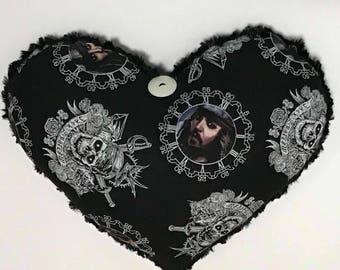 Captain Jack Sparrow Pirate Heart Pillow