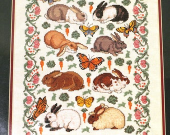 Elsa Williams The Rabbit Garden Cross Stitch Kit Easter Bunny Bunnies Rabbits
