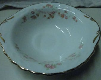 Vintage Lugged Cereal Bowl Pope Gosser USA China Florence Pattern #3025