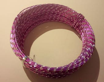 Wire aluminum 30 m Lavender effect diamond (2mm)