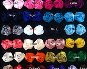 30% OFF WHOLESALE Satin Roses Satin Rosettes Vintage Roses Wedding Roses Flowers Beautiful Rolled Satin Rosettes Embellishments Wedding Acce
