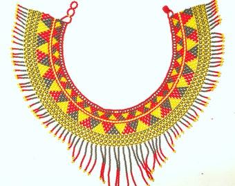 Huichol inspired necklace/choker