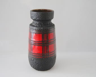 Great Scheurich vase 242-22, West German Pottery, WGP, Fat Lava
