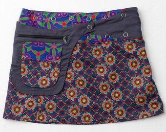 ble Skirt-Wrap Skirt-Mini Skirt- Adjustable Waistline-Onesize fits most- Detachable Reversible Pocket-Navy Blue Skirt