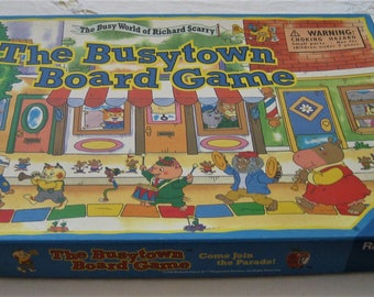 The Busytown Board Game The Busy World of Richard Scarry 1996 Parmount Pictures Otto Maier Verlag Ravensburg of Germany Child's Classic Game