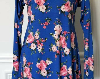 Floral Dress (blue wiith pink floral)