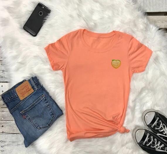 Peach Emoji   Peach Emoji Shirt   Peach Butt Tee   Peach Butt Funny Shirt    Tumblr Shirt   Popular Tshirts   Peach T-shirt   Tshirt   Tee