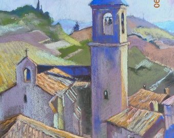 Dry in the Tarn, pastel LAUTREC steeple