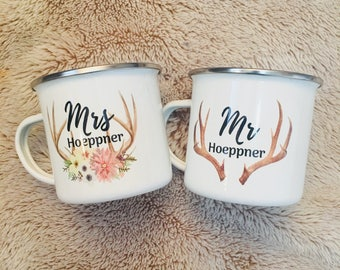 Mr & Mrs personalized mugs