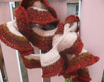 CHENILLE scarf autumn colors
