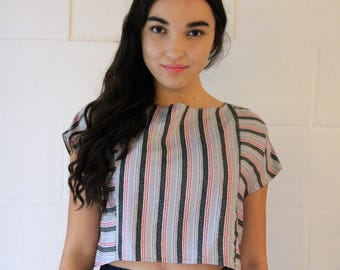Crop Top made from vintage fabric