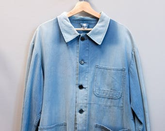 French Chore/Work Jacket - Ultra Faded Light Blue / L