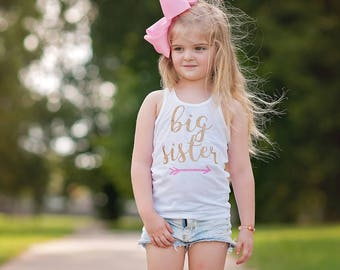 Big Sister Shirt, Pregnancy Announcement, Matching Sister Shirts, New Baby, Baby Shower gift, Big Sister Announcement, Maternity Pictures