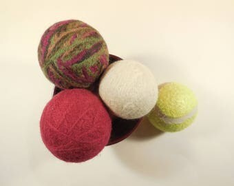 (Pack of 3) 100% Virgin wool felted dryer balls