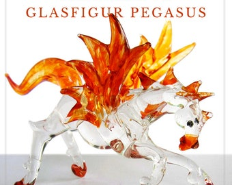 Fabulous glass figurine - Pegasus