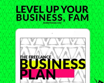 Business Plan Template -Business Planner Page - Business Planner Printable - Business WorkBook - One Page Business Plan - 8.5x11