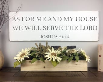 As For Me And My House Sign | Scripture Verse Sign | Bible Verse Sign | Serve The Lord