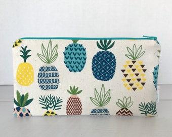 Pineapple Zipper Pouch | Clutch | Pencil Pouch | Make-up Bag