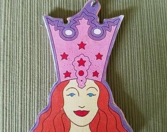 Glinda wooden ornament