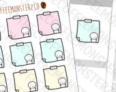 Pastel Sticky Note Stickers  - emoti planner stickers E251