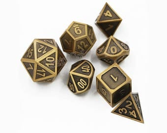 DND Dice set-Polyhedral Dice Set-dungeons and dragons Dice-Metal Dice for Role Playing Games-d&d dice-rpg dice set-Metallic Dice-Gaming Dice