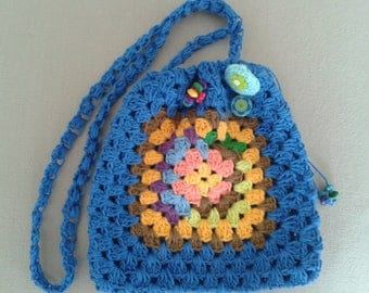 pretty shoulder bag handbag crochet granny