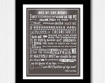 Invictus Poem by William Ernest Henley -  Buy 2 Get 1 FREE