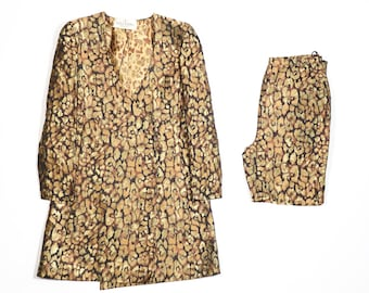 VALENTINO - Gold suit with jacket and pants