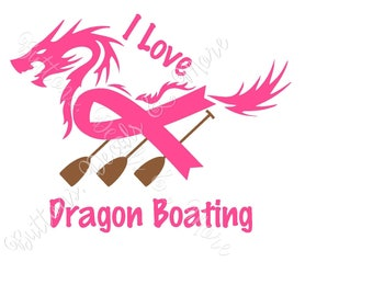 I Love Dragon Boat Racing - New Decal - Laptop, Vehicle Window, Home Window, and more !