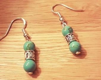 Lovely turquoise natural gemstone earrings