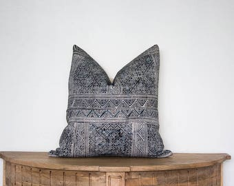 18X18 Vintage Hmong Pillow Cover