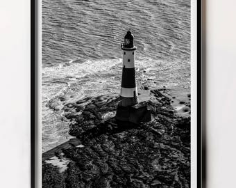 Printable Lighthouse, Nautical Poster, Lighthouse Wall Print, Wall Art Lighthouses, Bathroom Art Print, Lighthouse Photo