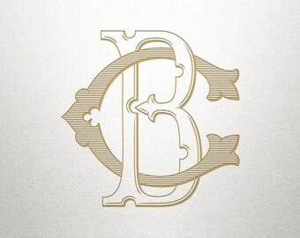 Interlocking Monogram Design - BC CB - Monogram Design - Vintage