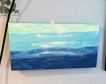 7x14 Ombre Blue panting