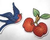 Iron on Cherry or Bird Mo...