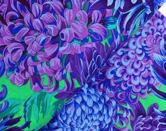 Sale Japanese Chrysanthemum in Purple from the Kaffe Fassett Collective Fall 2015 - Philip Jacobs - Japanese Chrysanthemum in Purple