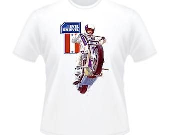 Retro Evel Knievel 1970s Stunt Cycle T-Shirt