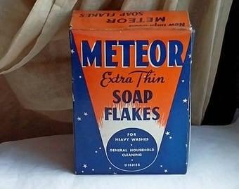 1950's Jewel Tea Meteor Soap Flake Box Mid Century Modern
