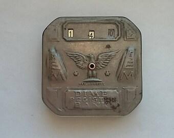 Vintage Tin Bank Dime Register Bank Automatic Register