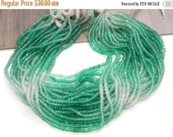 on sale Super fine quality green onyx shaded Faceted roundel Beads  3.5 - 4 mm 14 inch strand approx