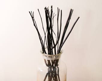 12g Natural Wooden Branch Replacement Diffuser Reed Refill Sticks Twigs 24cm Black